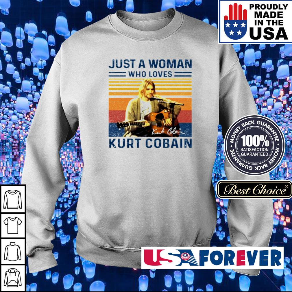 Just a woman who loves Kurt Cobain signature s sweater