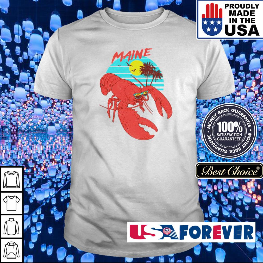 Lobster maine beach vintage shirt