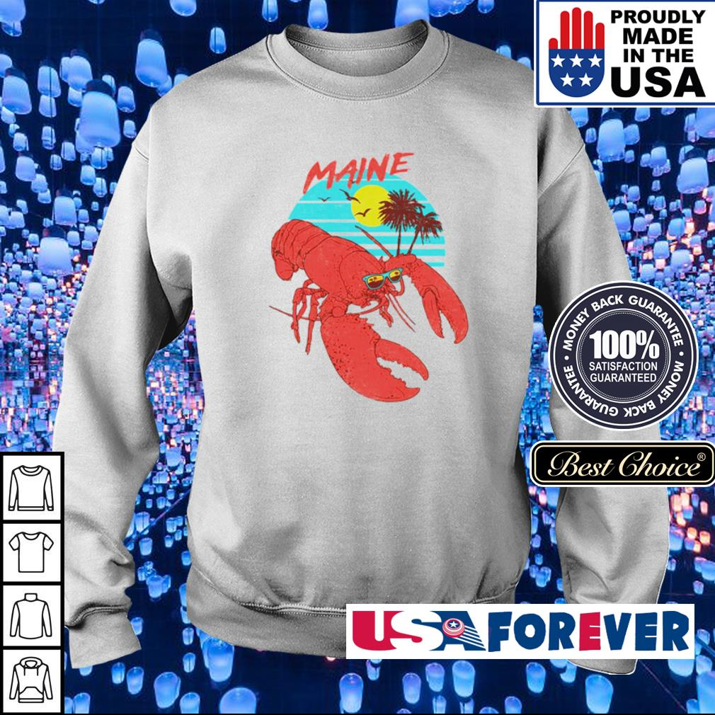 Lobster maine beach vintage s sweater