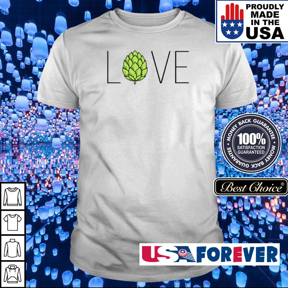 Love Craft Beer hops shirt