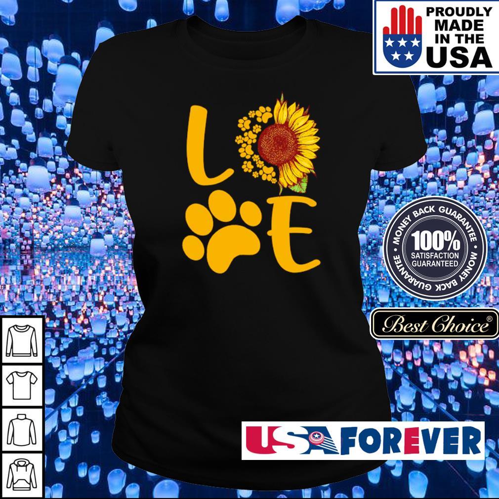 Love dog paws sunflower s ladies