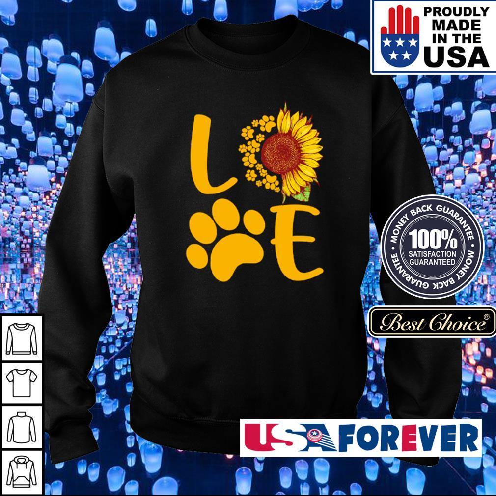 Love dog paws sunflower s sweater