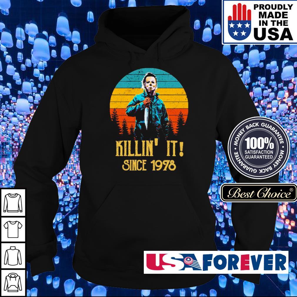 Michael Myers killin' it since 1978 vintage s hoodie