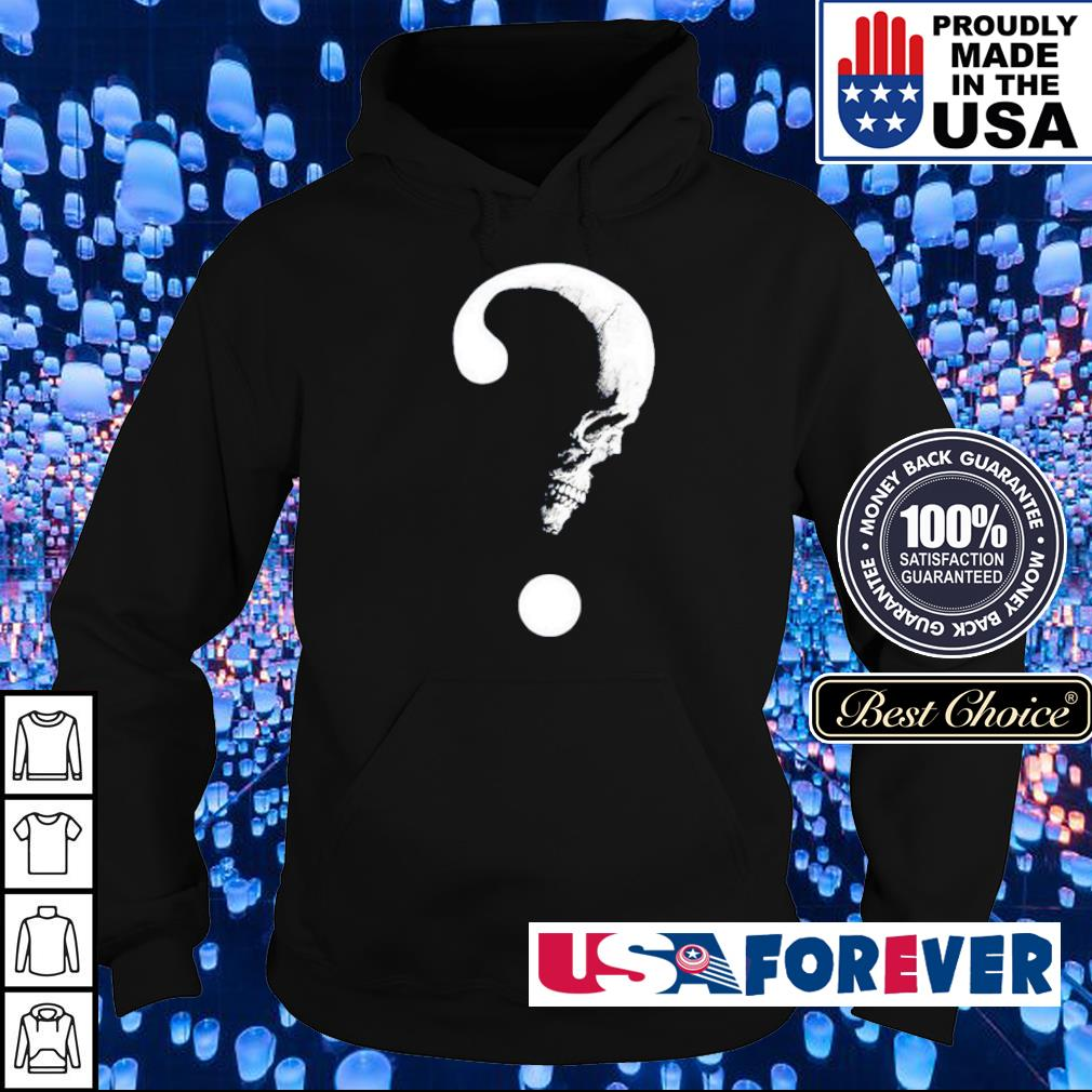 Moon skull big question s hoodie