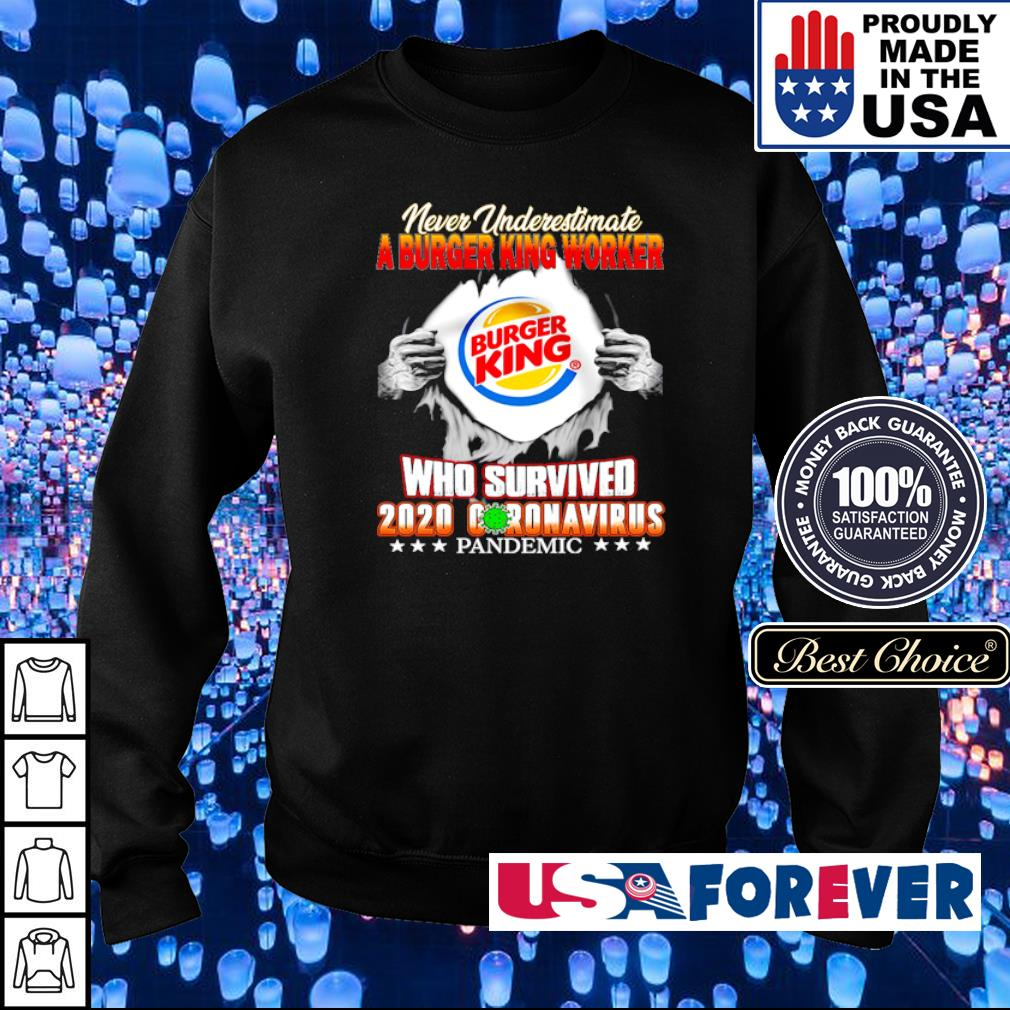 Never underestimate a burger king worker who survived 2020 coronavirus pandemic s sweater