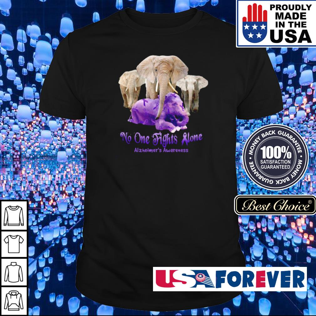 No one fights alone Alzheimer's Awareness shirt