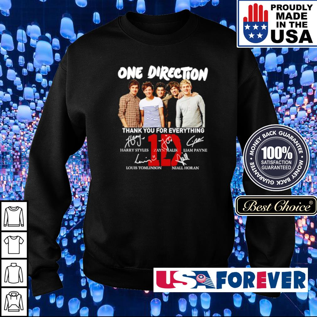 One Direction thank you for everything signatures s sweater