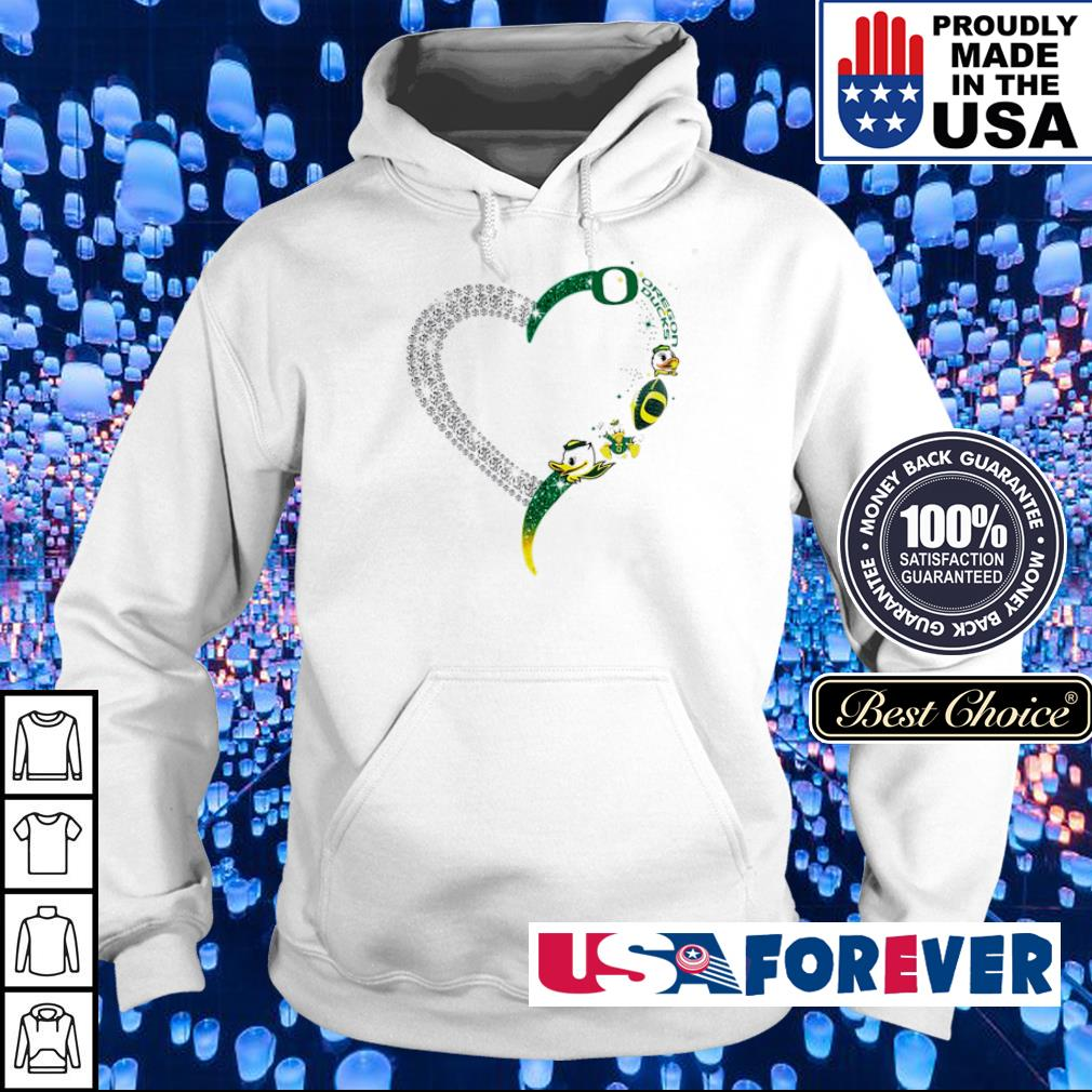 Oregon Ducks Heart Diamonds s hoodie