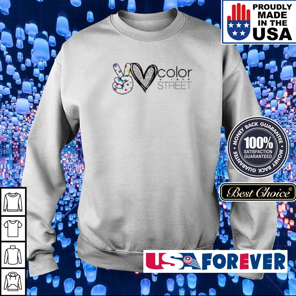 Peace love and color street s sweater