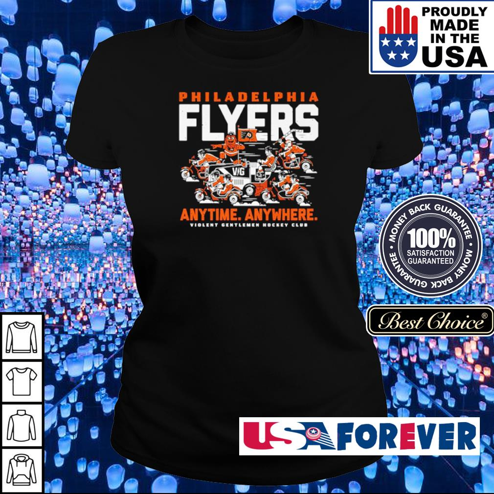 Philadelphia Fylers anytime anywhere violent gentlemen hockey club s ladies