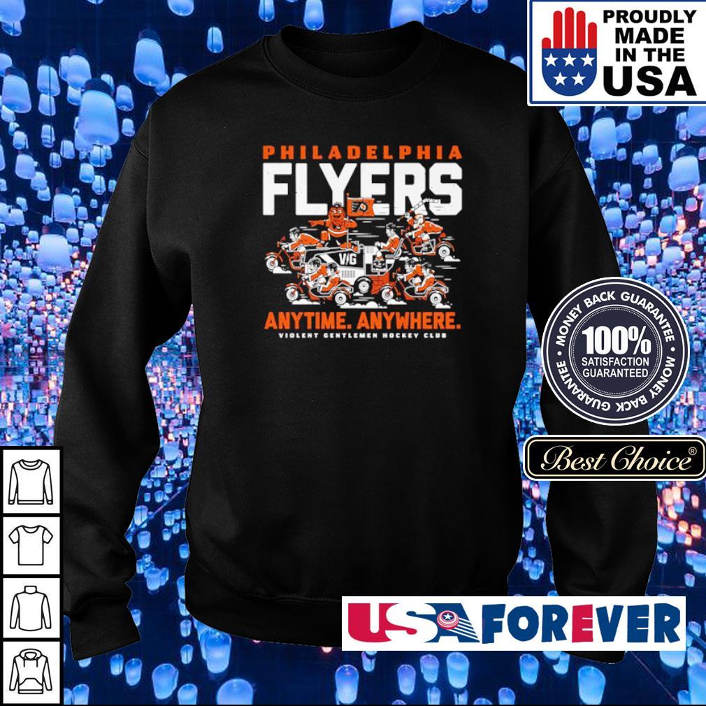 Philadelphia Fylers anytime anywhere violent gentlemen hockey club s sweater