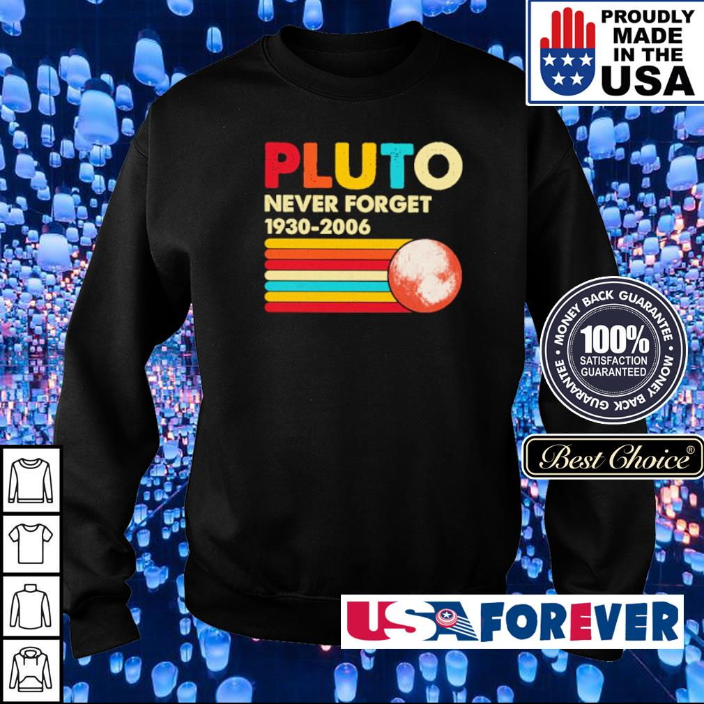 Pluto never forget 1930-2006 s sweater