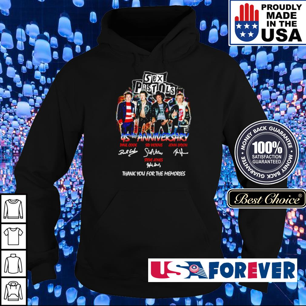 Sex Pistols 45th anniversary thank you for the memories signatures s hoodie