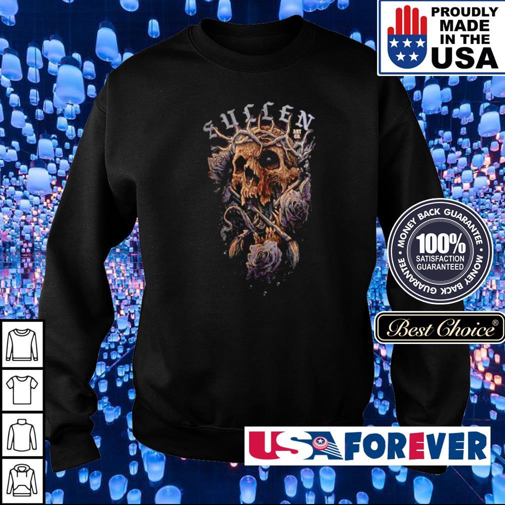 Skull and Flowers Sullen Art s sweater