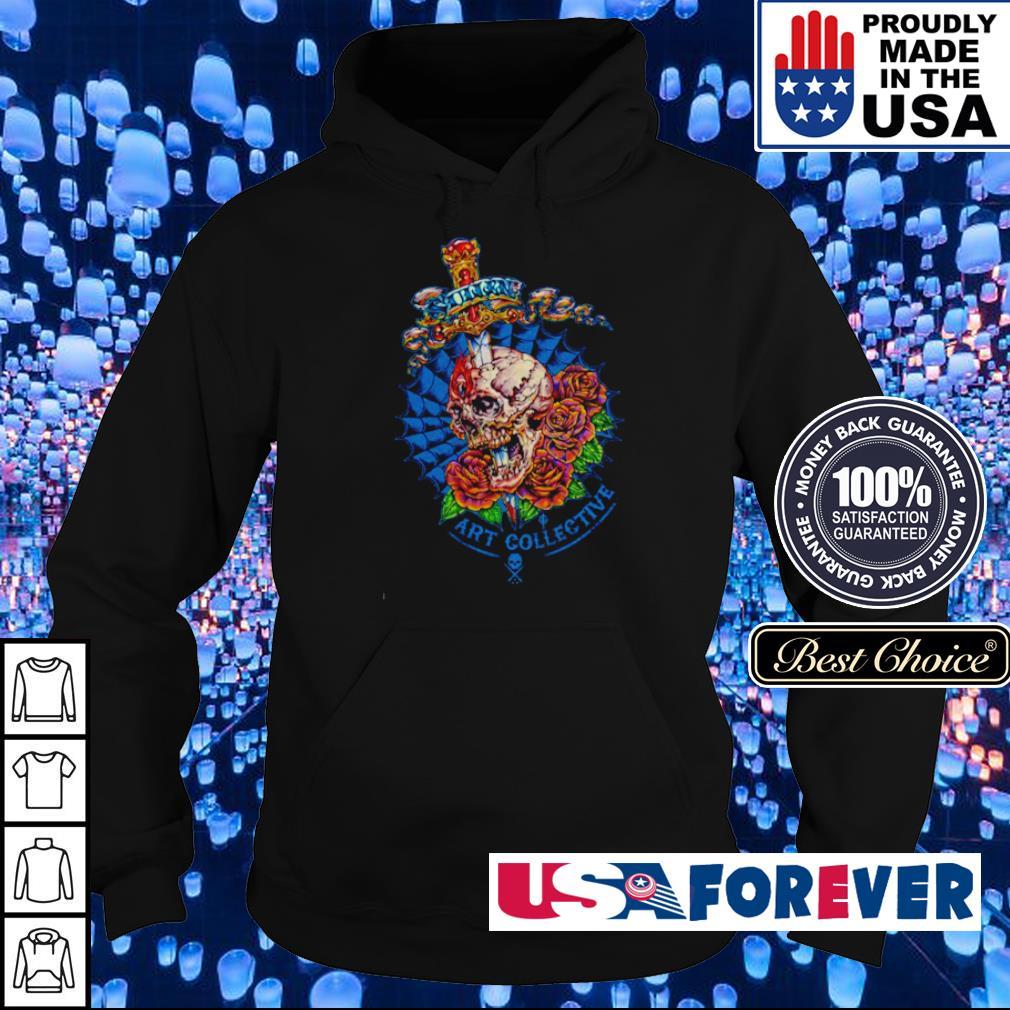 Skull Knife Flowers Sullen Art Collective s hoodie