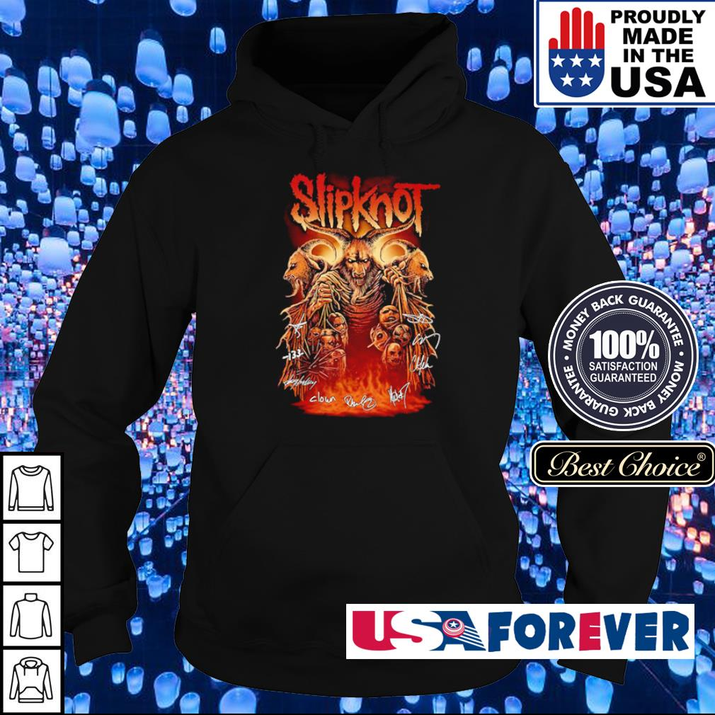 SlipKnot team band's signatures s hoodie