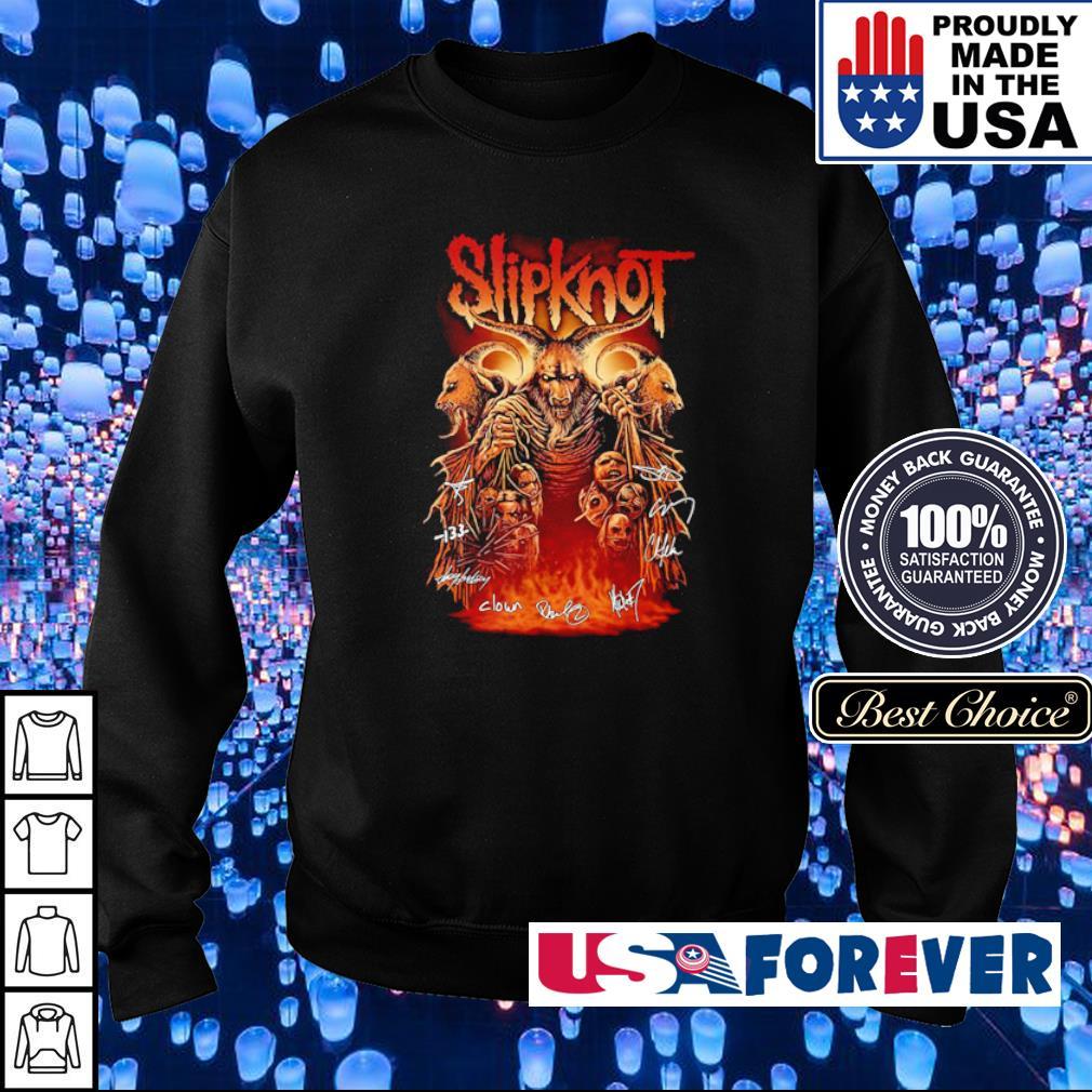 SlipKnot team band's signatures s sweater
