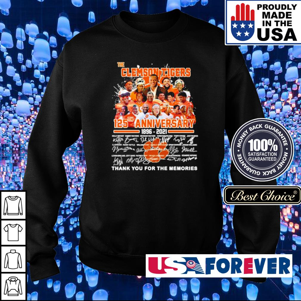 The Clemson Tigers 125th anniversary thank you for the memories s sweater