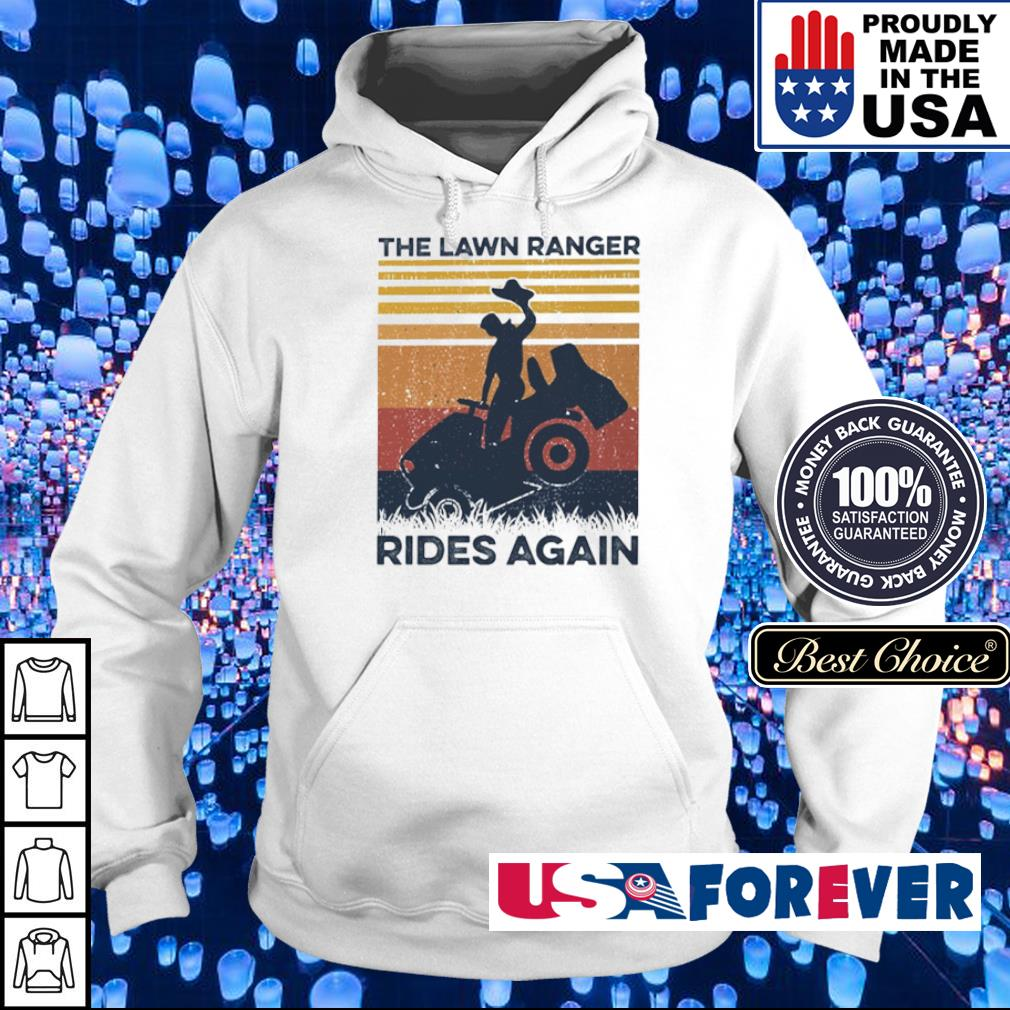 The lawn ranger rides again vintage s hoodie