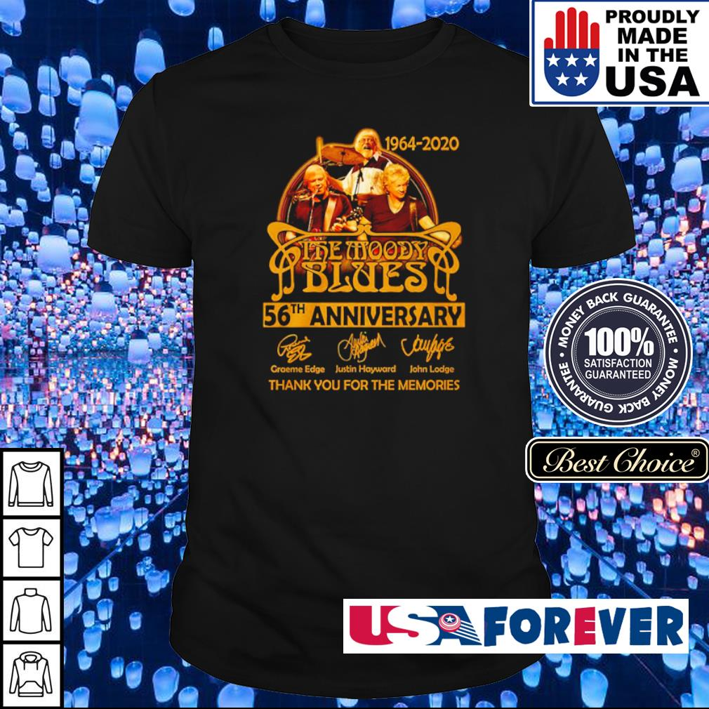 The Moddy Blues 56th anniversary thank you for the memories shirt