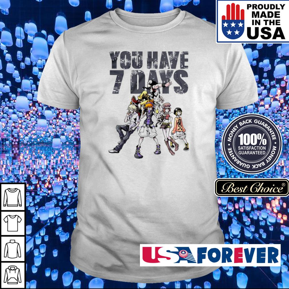 The World Ends With You you have 7 days shirt