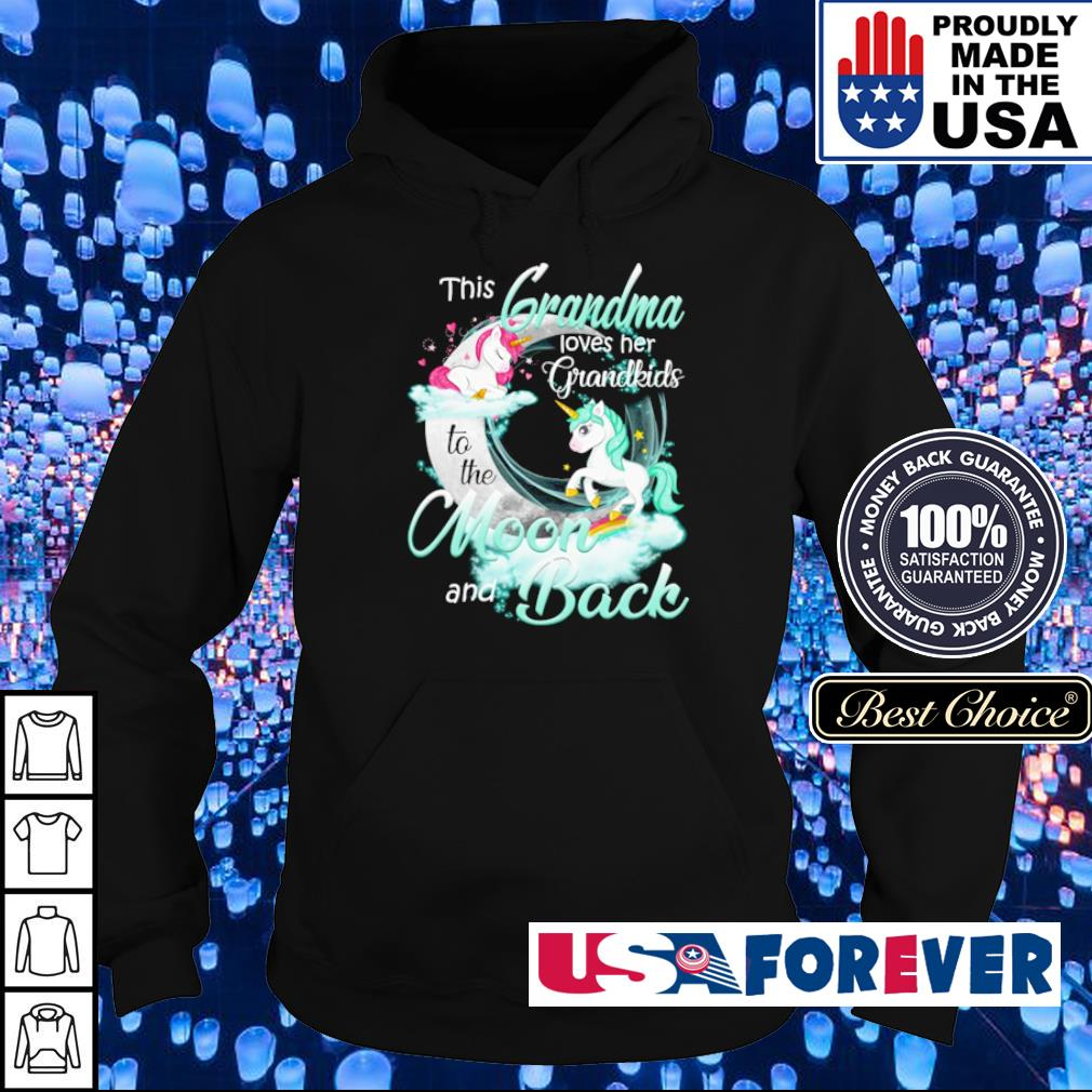 This grandma loves her grandkinds to the moon and back s hoodie