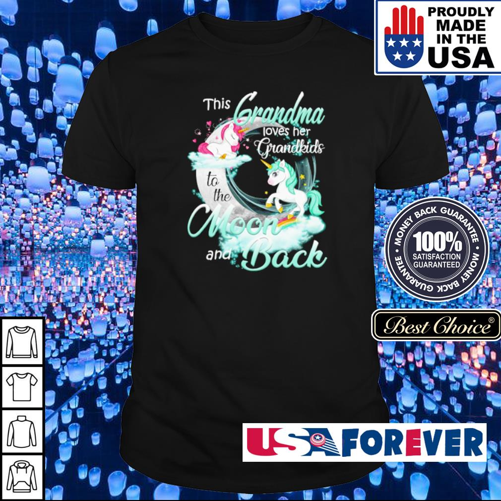 This grandma loves her grandkinds to the moon and back shirt