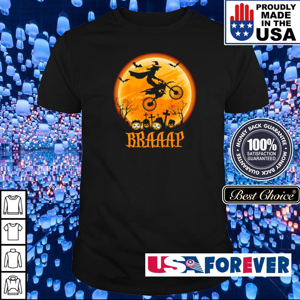 Witch riding motorsport braaap shirt
