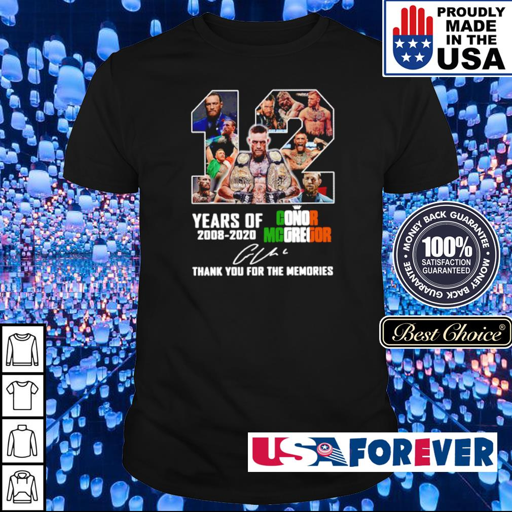 12 years of Conor Mcgregor signature thank you for the memories shirt