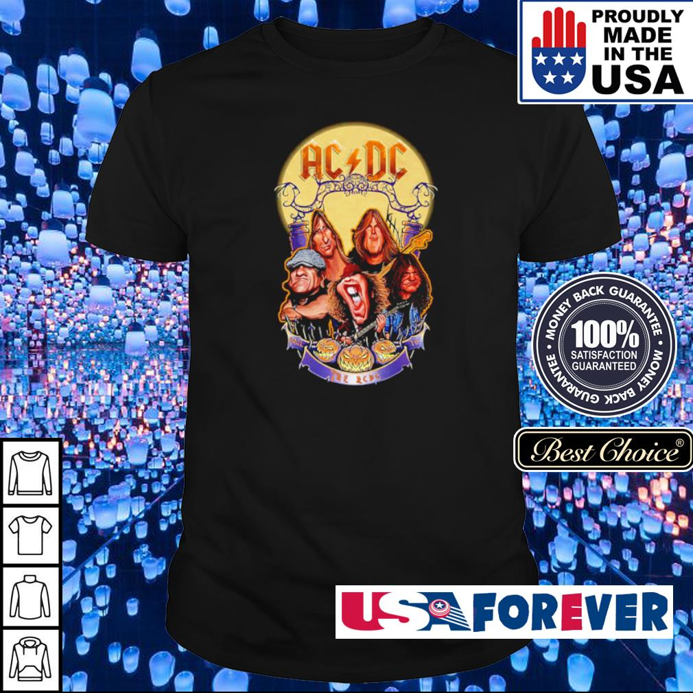AC DC Heavy Metal Music Band band hail the AC DC to Halloween shirt