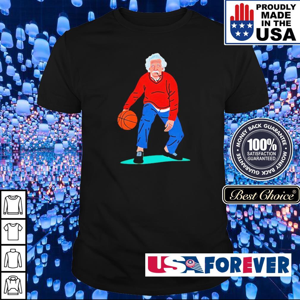 Albert Einstein playing basketball art shirt