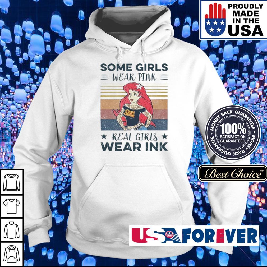 Ariel the little mermaid some girls wear pink real girls wear ink vintage s hoodie