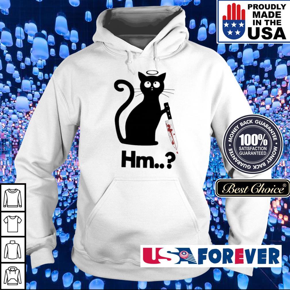 Black cat angel knife hmm s hoodie