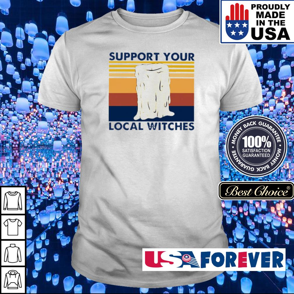 Candle support your local witches vintage shirt
