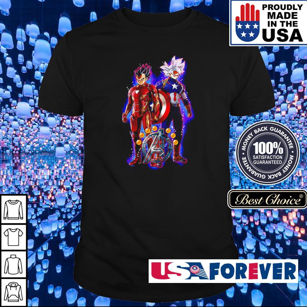Dragon Ball Avengers Vegeta the Iron Man and Goku the Captain America shirt