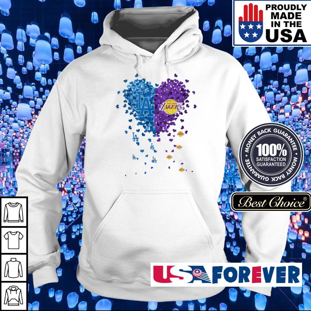 Heart Los Angeles Dodgers vs Los Angeles Lakers s hoodie