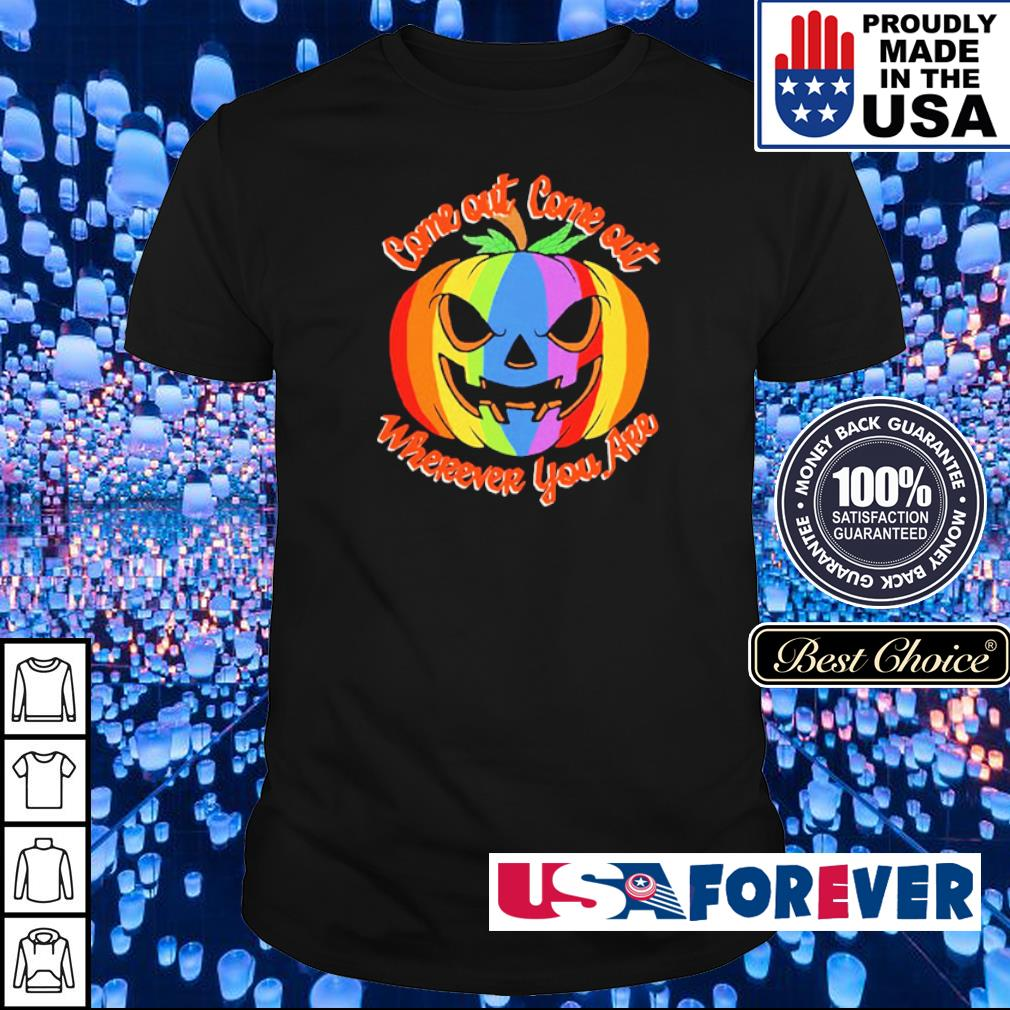 LGBT pumpkin come out come out wherever you are Halloween shirt