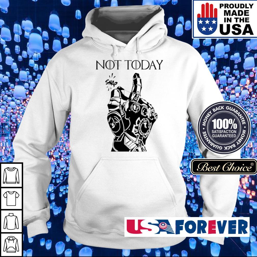Marvel Infinity gauntlet not today snap s hoodie