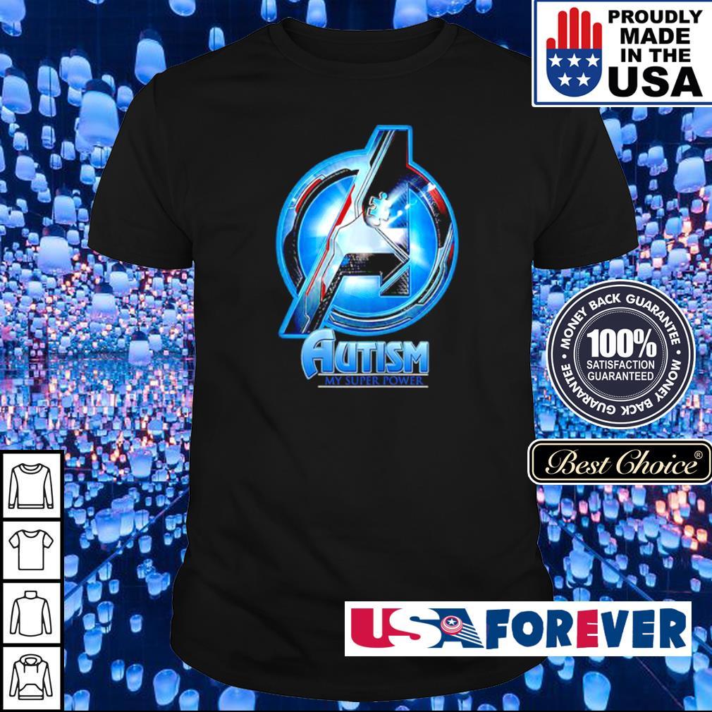 Marvel Studio The Avengers autism awareness my super power shirt
