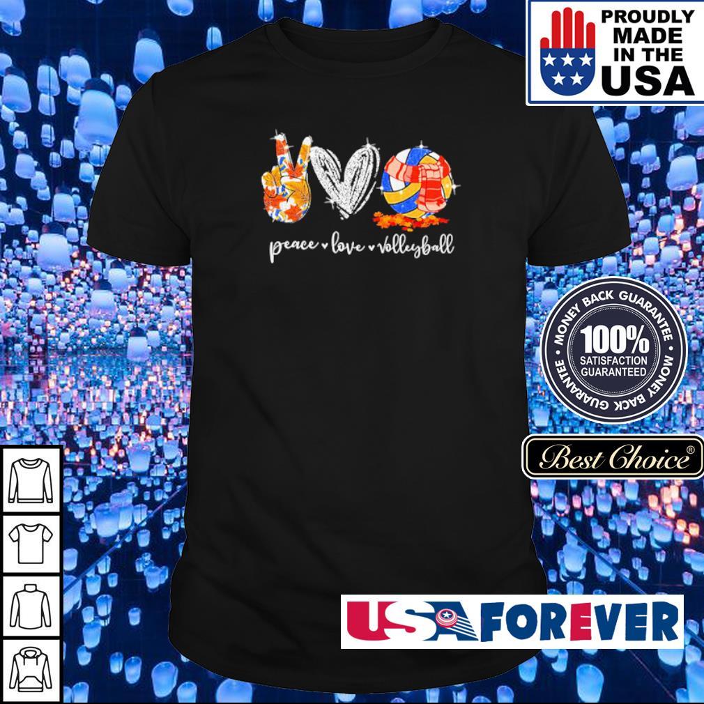 Peace love volleyball autumn diamond shirt