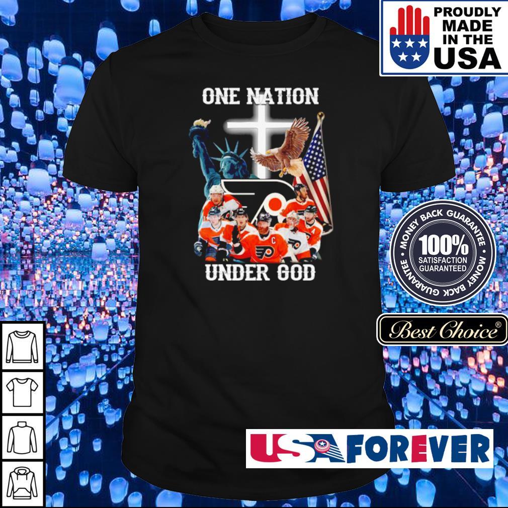 Philadelphia Flyers one nation under God American Flag shirt