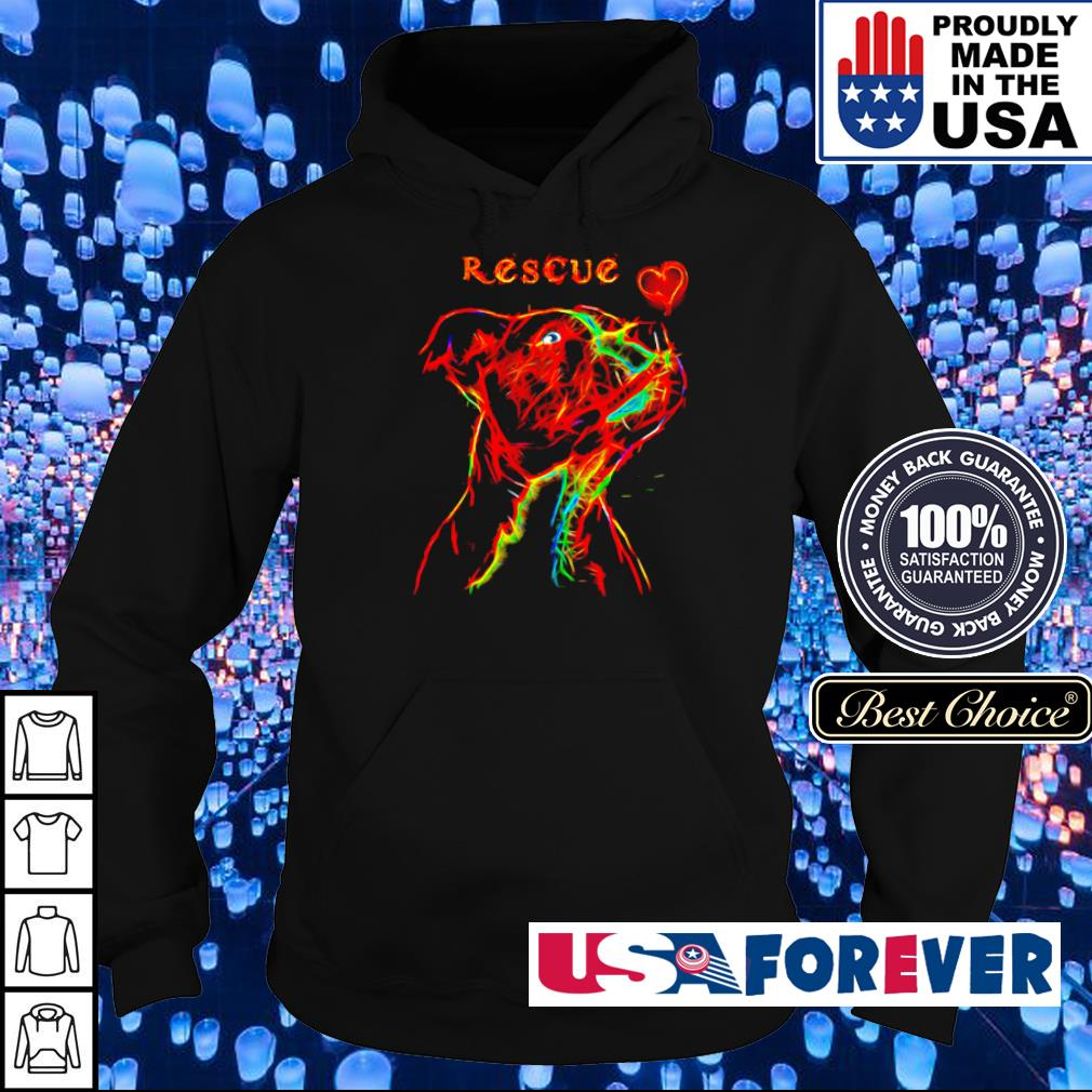 Pitbull rescue heart colorful s hoodie