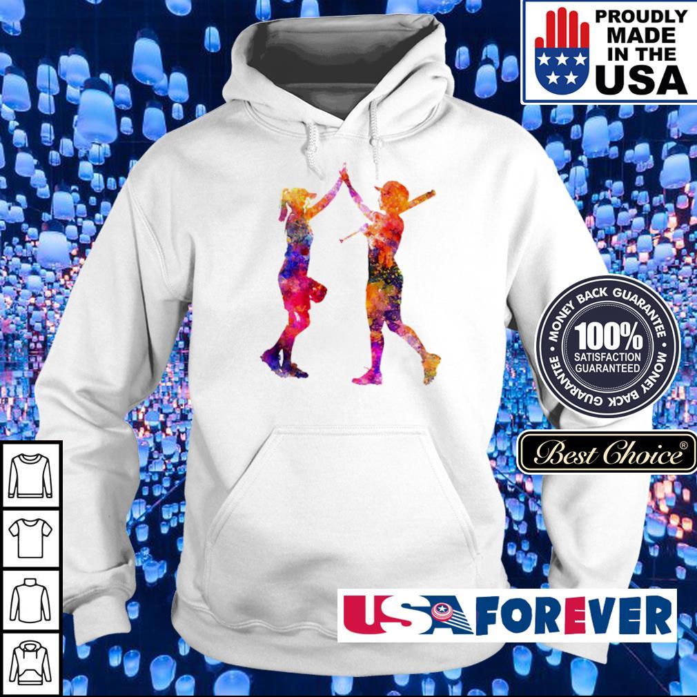 Softball bestie playing colorful s hoodie