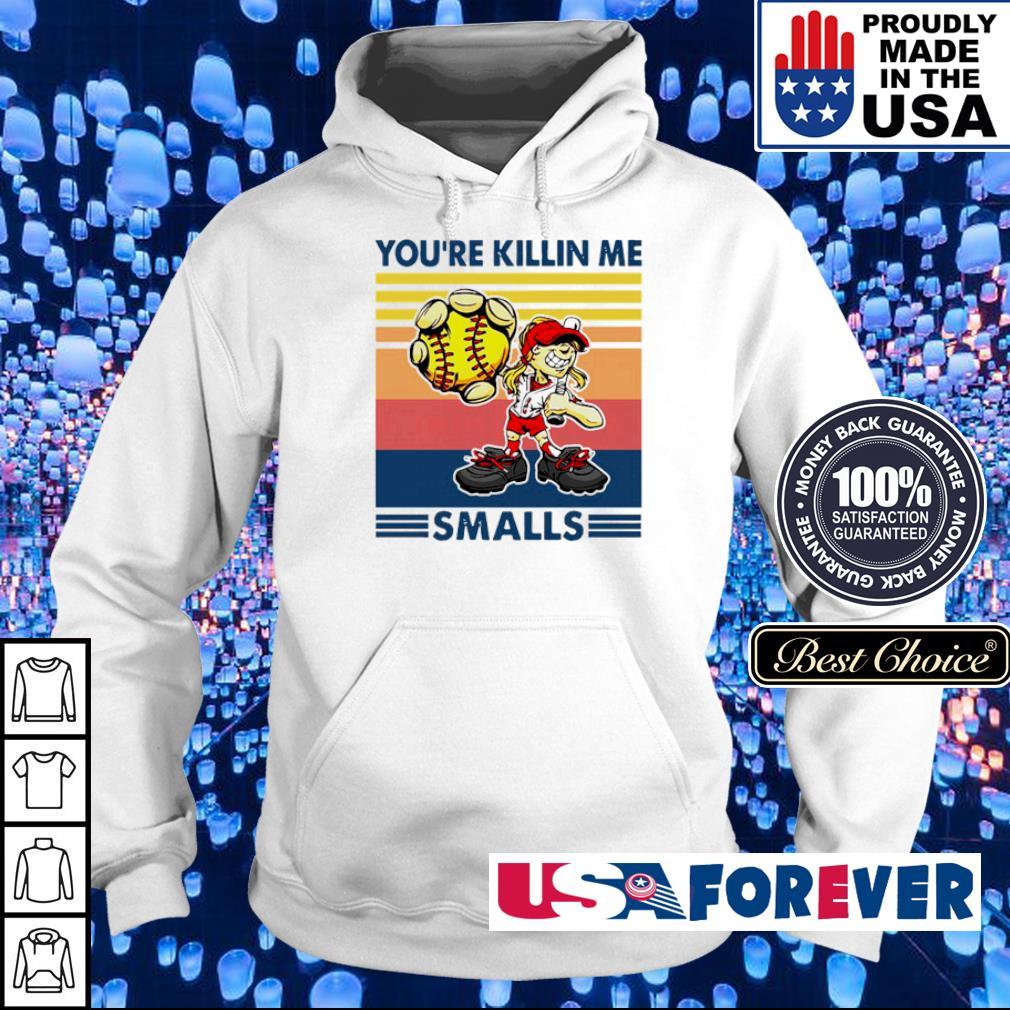 Softball cartoon girl you're killin me smalls vintage retro s hoodie