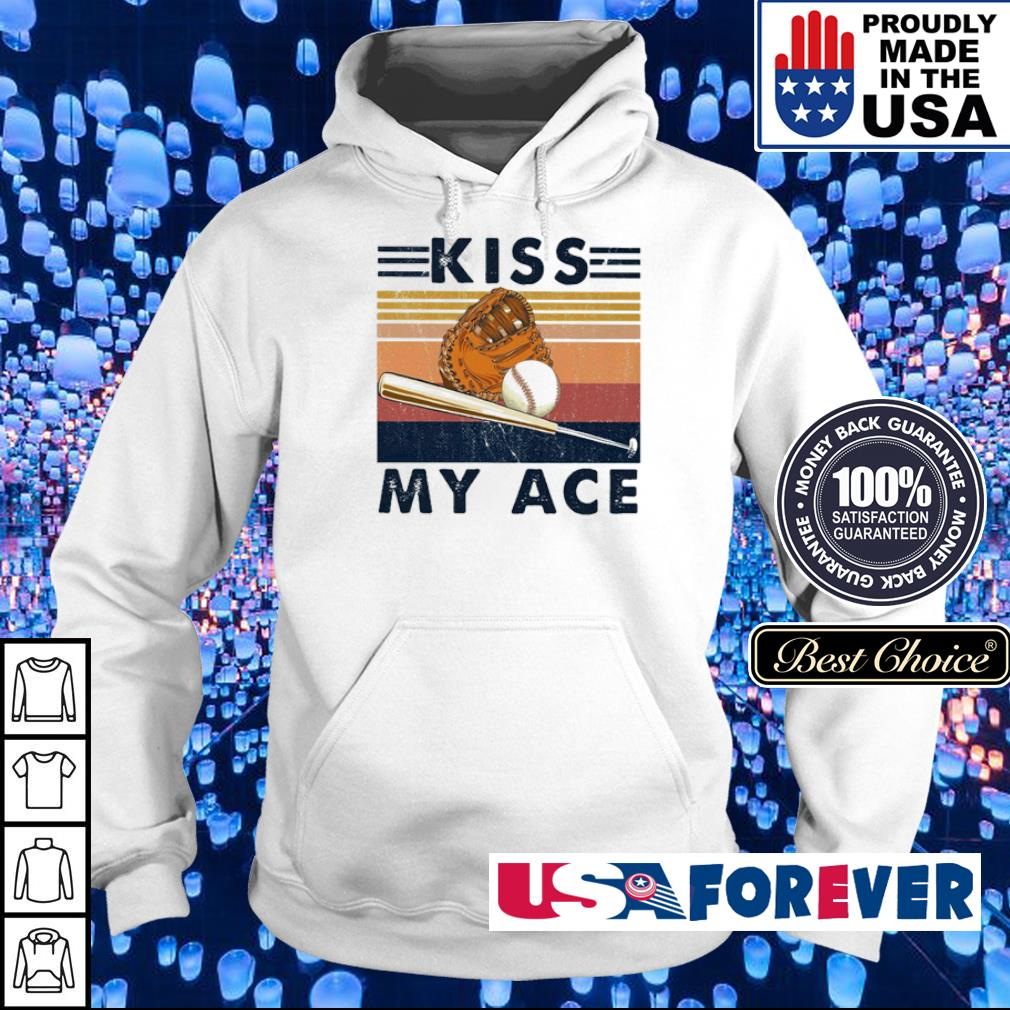 Softball kiss my ace vintage retro s hoodie