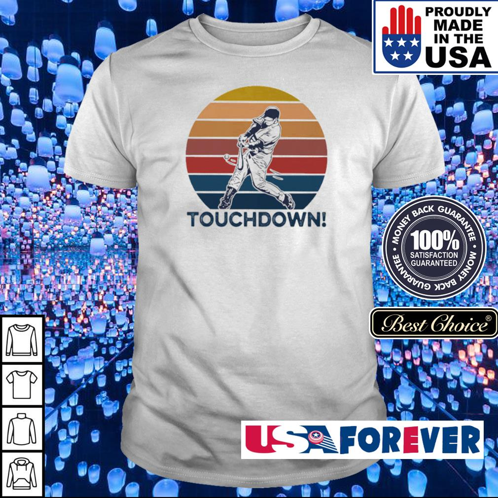 Softball touchdown vintage retro shirt