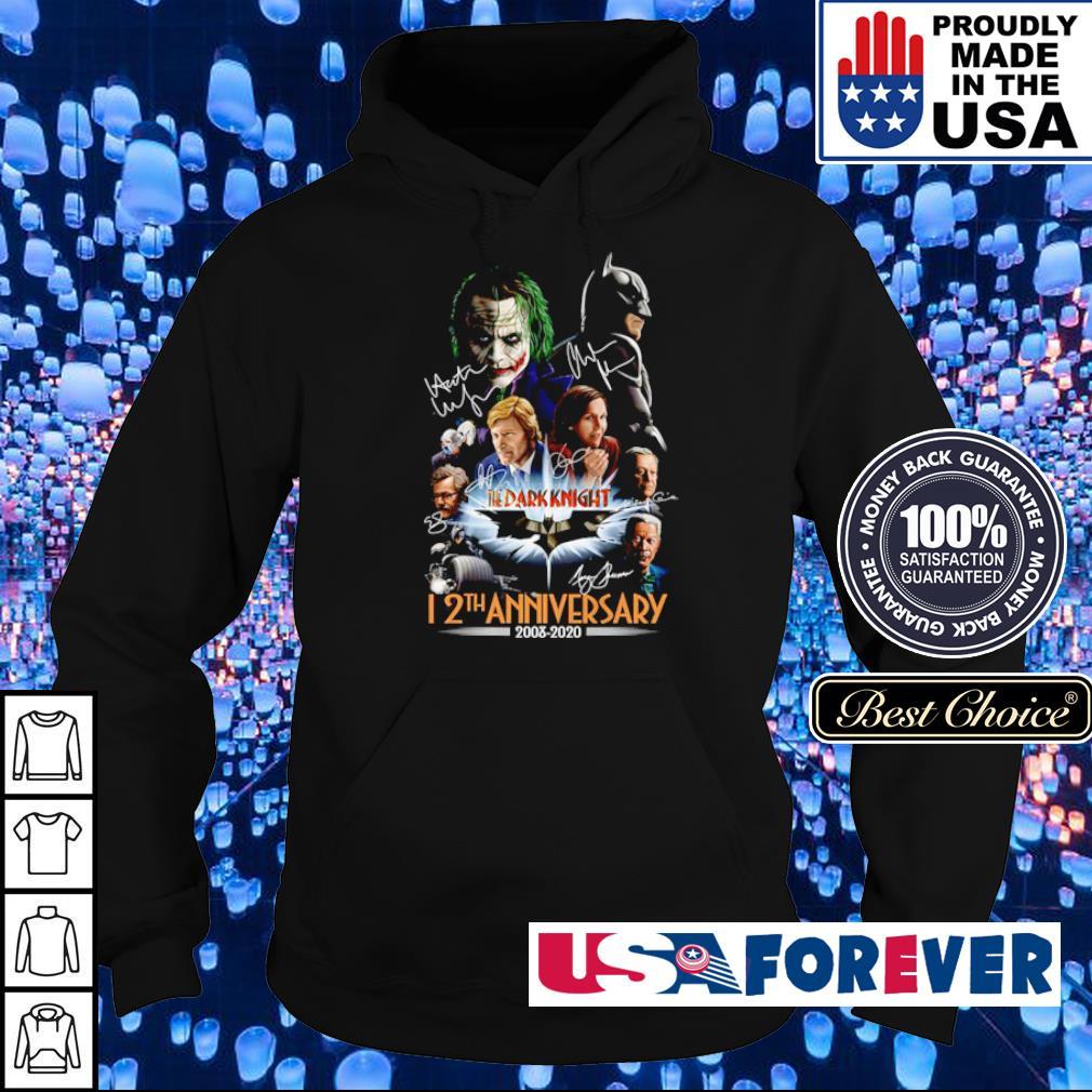 The Dark Knight 12th anniversary 2008 2020 signatures s hoodie