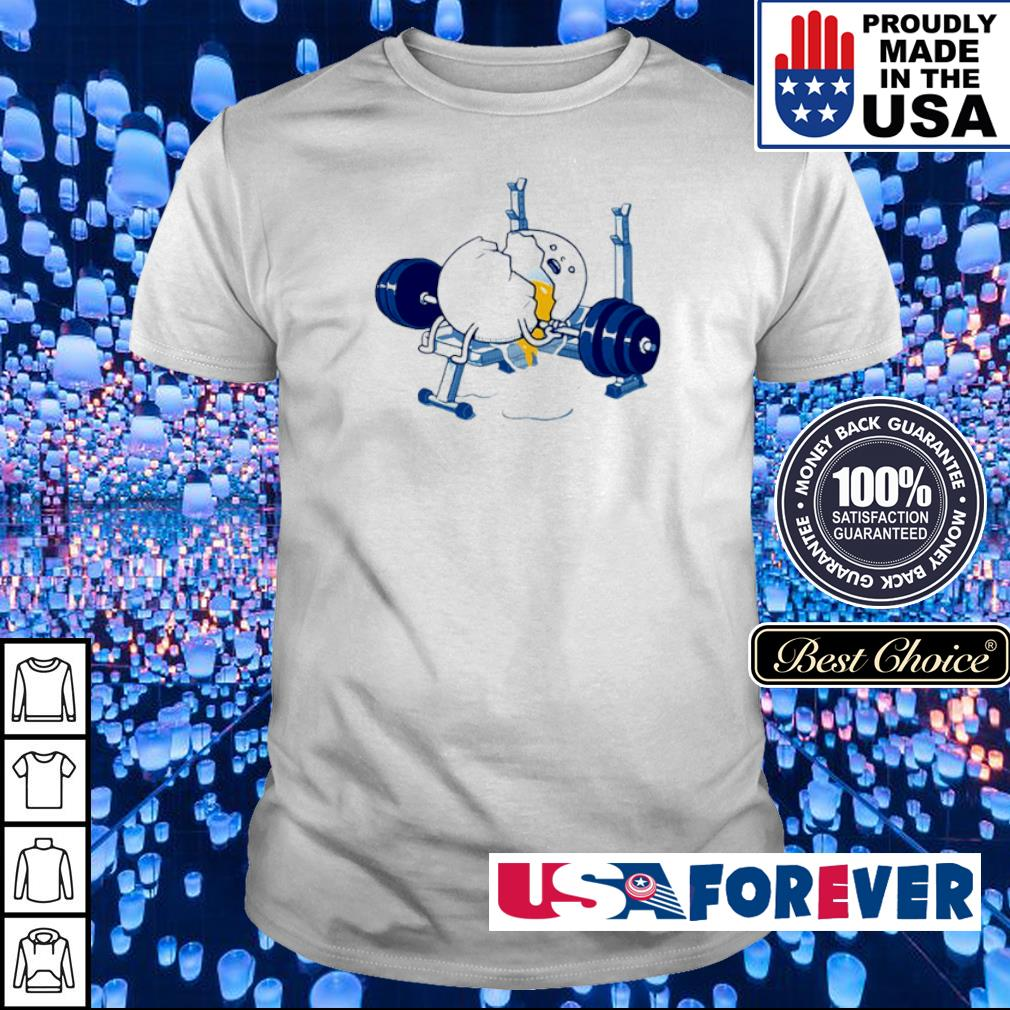 Weightlifting incident fitness egg shirt