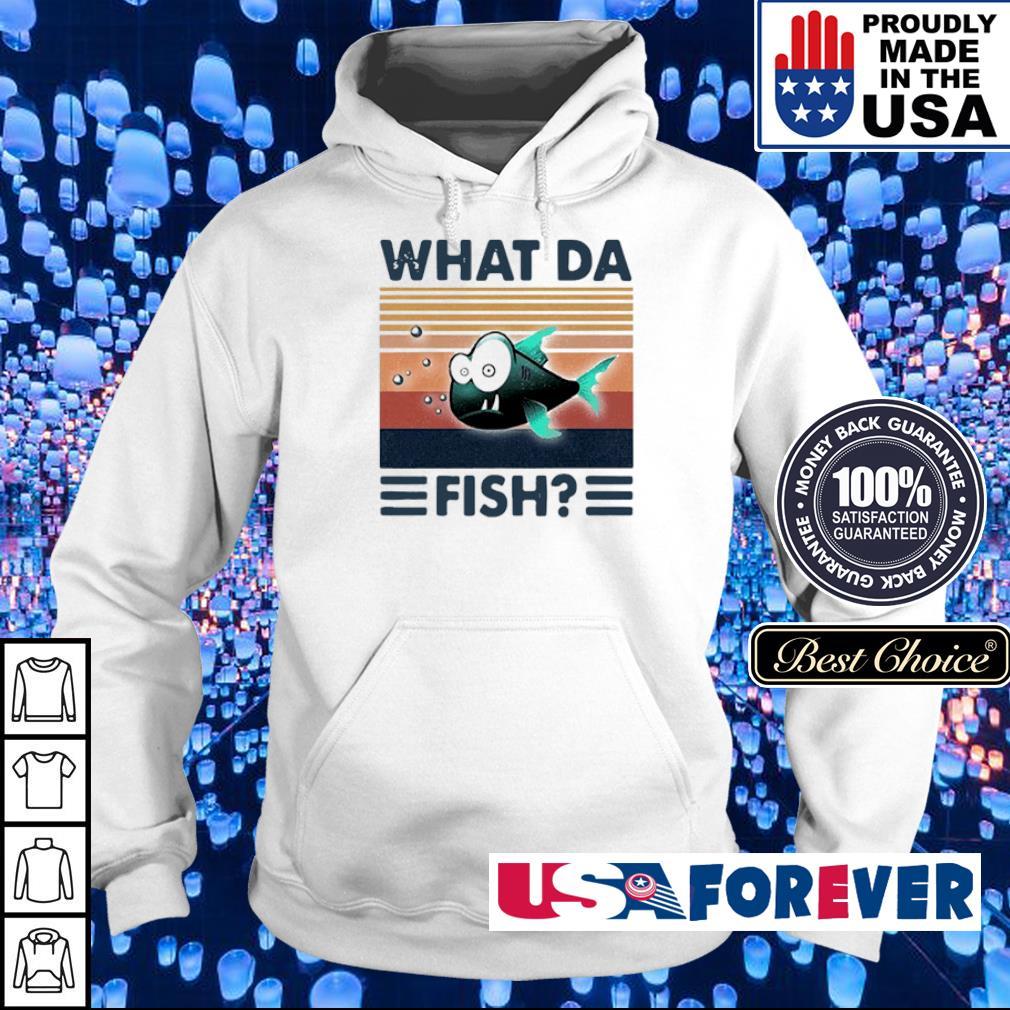 WTF what da fish vintage s hoodie