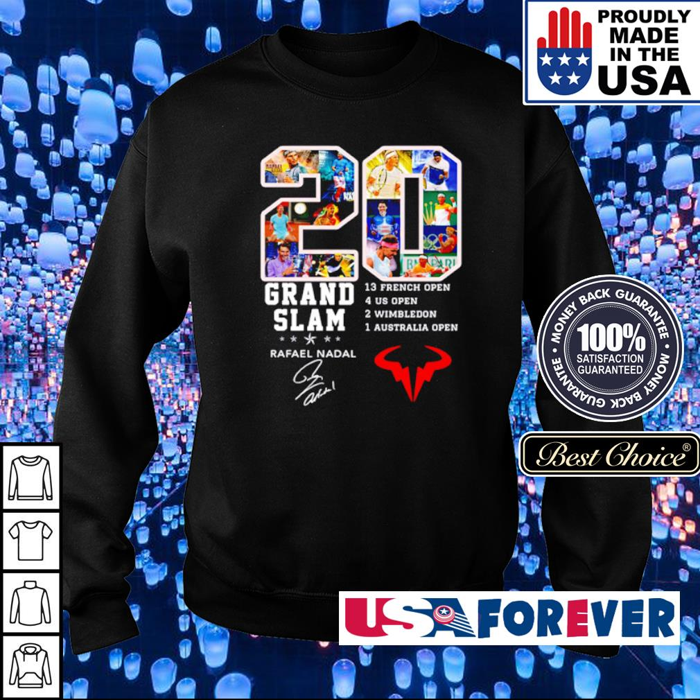 20 years of Grand Slam Rafael Nadel signature s sweater